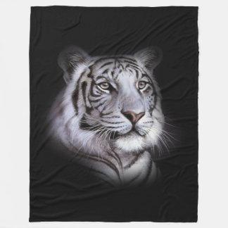 Couverture Polaire Visage blanc de tigre