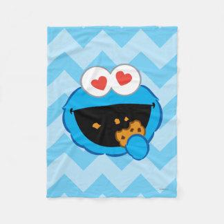 Couverture Polaire Visage de sourire de biscuit avec les yeux en