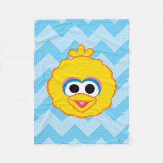 Couverture Polaire Visage de sourire de grand oiseau