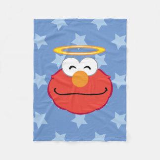 Couverture Polaire Visage de sourire d'Elmo avec le halo