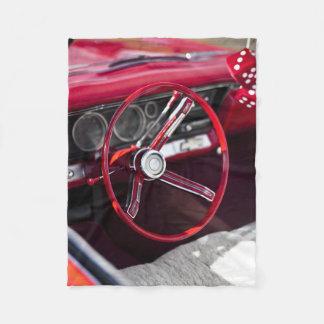 Couverture Polaire Volant classique vintage d'automobile