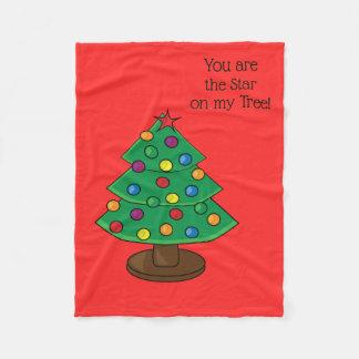 Couverture Polaire Vous êtes l'étoile sur mon arbre