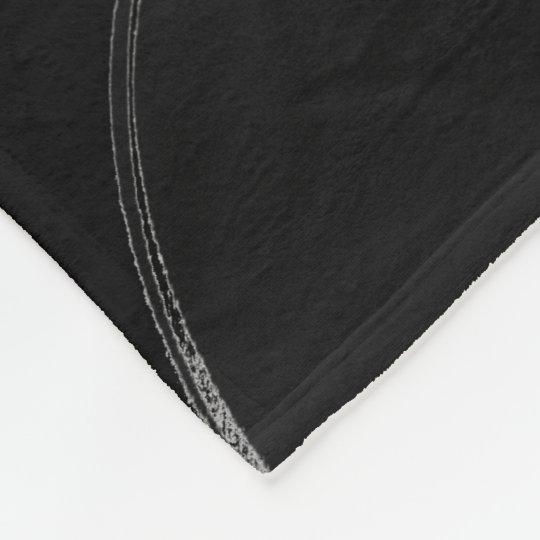 Couverture polaire Yin Yang Noir/Rouge