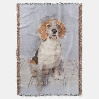Couverture Portrait mignon d'aquarelle de beagle