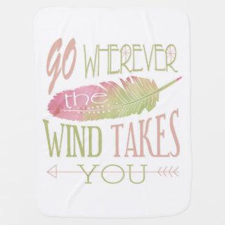 Couverture Pour Bébé Allez partout où le vent vous prend