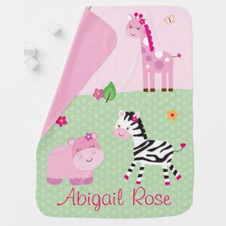 Couverture Pour Bébé Animal rose de jungle