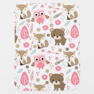 Couverture Pour Bébé Animaux mignons dans la couverture en pastel de