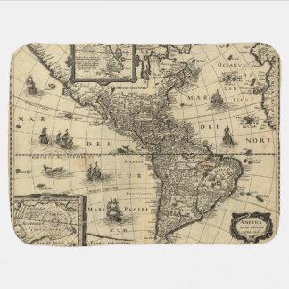 Couverture Pour Bébé carte du 17ème siècle des Amériques