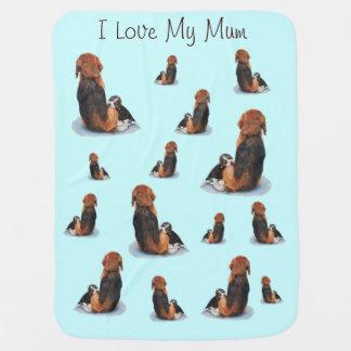 Couverture Pour Bébé Chien réaliste de caresse d'art de maman de beagle