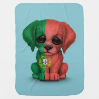 Couverture Pour Bébé Chiot portugais patriotique mignon de drapeau,