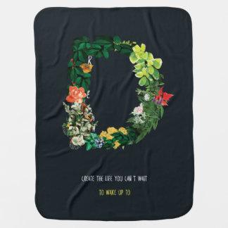 Couverture Pour Bébé Citation inspirée rêveuse florale