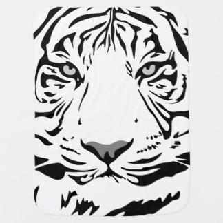Couverture Pour Bébé Couverture blanche de bébé de tigre