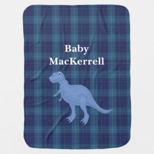 Couverture Pour Bébé Couverture bleue de bébé de plaid de tartan de