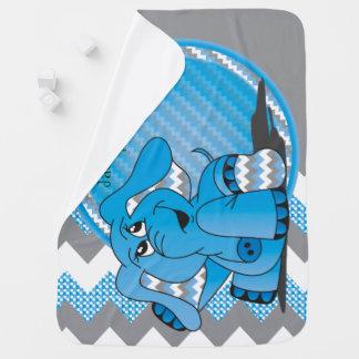 Couverture Pour Bébé Couverture bleue drôle de bébé d'éléphant de