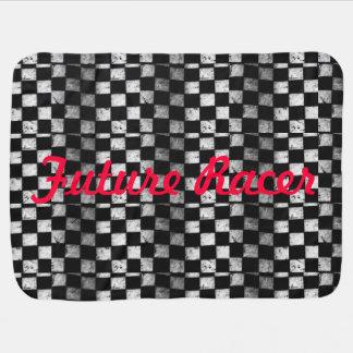 Couverture Pour Bébé Couverture Checkered de bébé de drapeau de futur