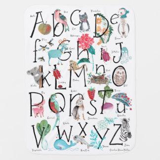 Couverture Pour Bébé Couverture de poussette de bébé de l'alphabet |