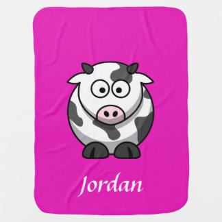 Couverture Pour Bébé Couverture de vache personnalisée par rose