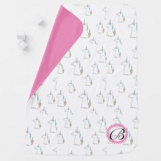 Couverture Pour Bébé Couverture décorée d'un monogramme de bébé de