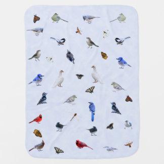 Couverture Pour Bébé Couverture d'oiseau et de papillon :