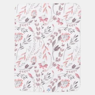 Couverture Pour Bébé Couverture florale lunatique de bébé d'aquarelle
