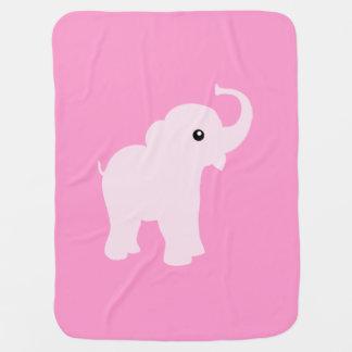 Couverture Pour Bébé Couverture mignonne rose d'éléphant pour le bébé