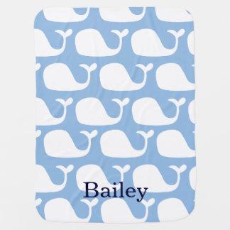 Couverture Pour Bébé Couverture personnalisée de bébé de baleines