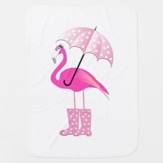 Couverture Pour Bébé Couverture rose de bébé de flamant