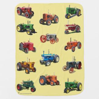 Couverture Pour Bébé Couverture vintage colorée de tracteur - jaune