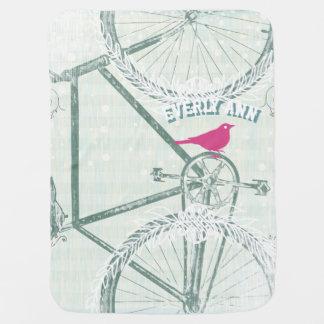 Couverture Pour Bébé Couverture vintage de bébé de bicyclette
