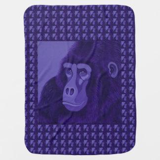 Couverture Pour Bébé Couverture violette de bébé de gorille