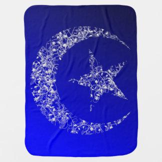 Couverture Pour Bébé Croissant de lune et étoile en filigrane