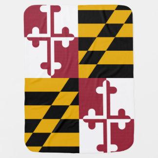Couverture Pour Bébé Drapeau d'état du Maryland
