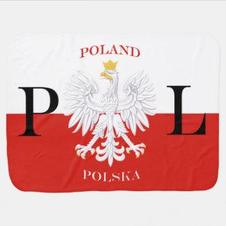 Couverture Pour Bébé Drapeau PL de la Pologne Polska