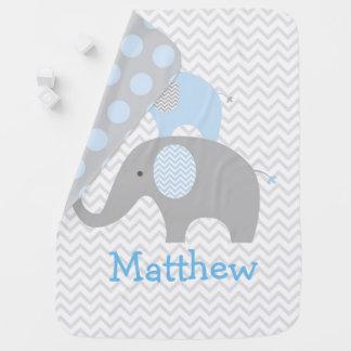 Couverture Pour Bébé Éléphant bleu