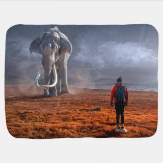 Couverture Pour Bébé Éléphant et homme d'imaginaire