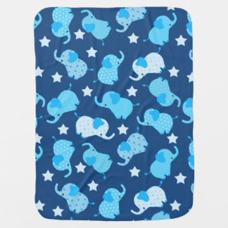 Couverture Pour Bébé Éléphants bleus de motif de bébé