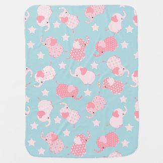 Couverture Pour Bébé Éléphants de motif de rose de bébé