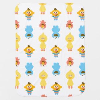 Couverture Pour Bébé Elmo, monstre de biscuit, Bert et monstre de