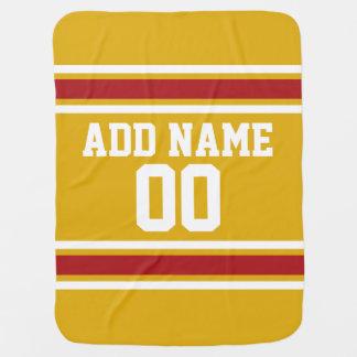 Couverture Pour Bébé Équipe Jersey de sports avec le nom et le nombre