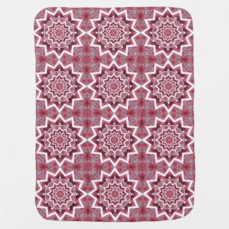 Couverture Pour Bébé Fleur blanche de mandala sur le motif rose