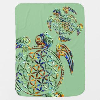 Couverture Pour Bébé Fleur de DES Lebens - tortue de la vie/Blume