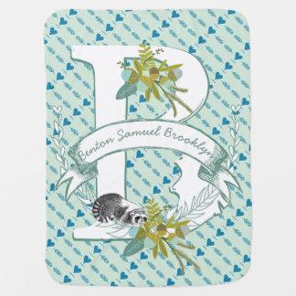 Couverture Pour Bébé Glands turquoises de menthe nommés de raton laveur
