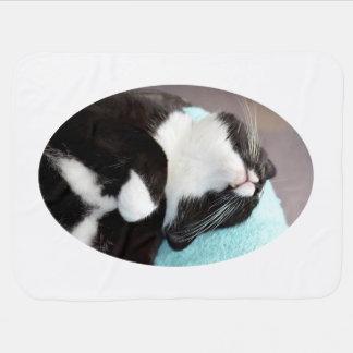 Couverture Pour Bébé image de minou de vue de menton de chat de smoking
