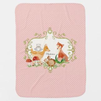 Couverture Pour Bébé Jet de crèche d'animaux de forêt de conte de fées