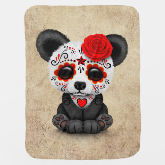 Couverture Pour Bébé Jour rouge du panda mort de crâne de sucre âgé