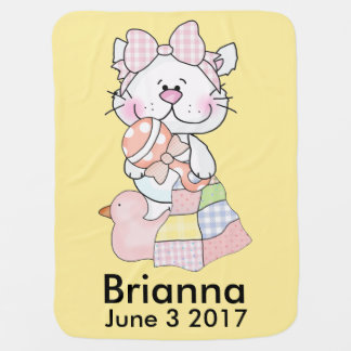 Couverture Pour Bébé Kitty personnalisé de Brianna
