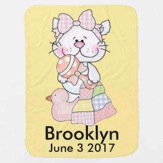 Couverture Pour Bébé Kitty personnalisé de Brooklyn