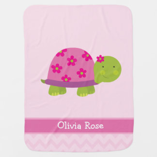 Couverture Pour Bébé La tortue mignonne a personnalisé masqué pour des