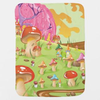 Couverture Pour Bébé Le champignon met en place la bande dessinée de