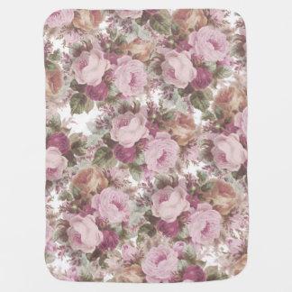 Couverture Pour Bébé Le cru rougissent peinture florale de roses roses